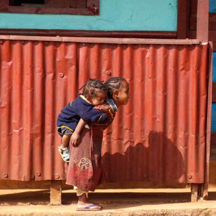 Two children in Chencha, Ethiopia © Petr Meissner