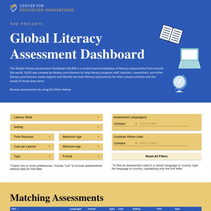 Global Literacy Assessment Dashboard