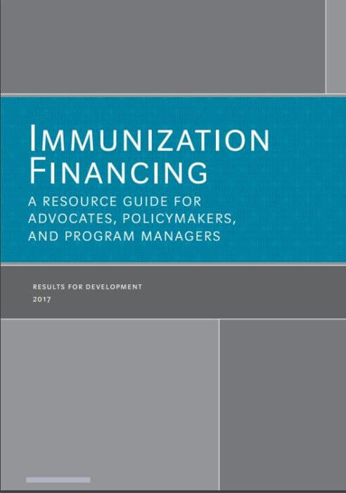 Immunization Financing Resource Guide