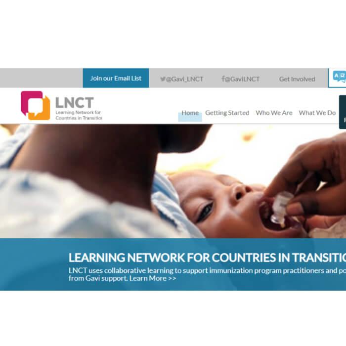 screenshot of LNCT Homepage