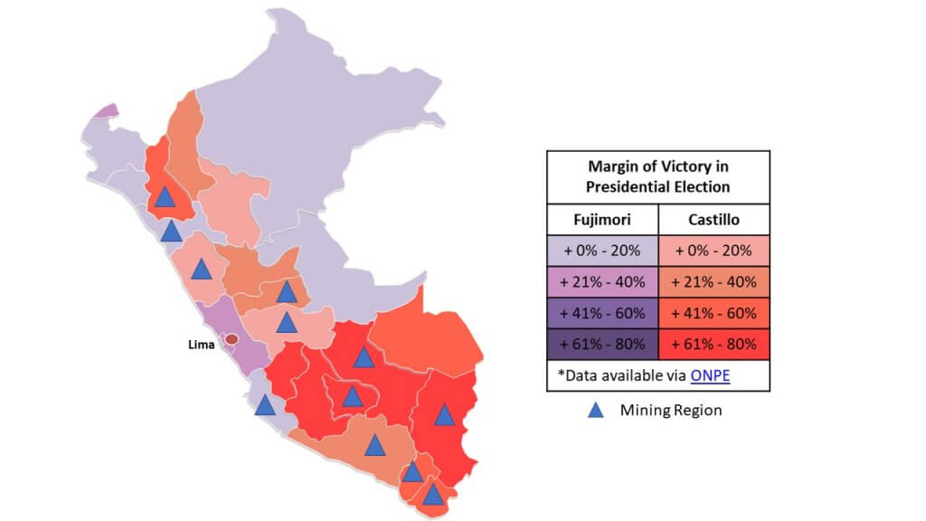 Mapping Electoral Outcome in Peru's June 6th Runoff Election