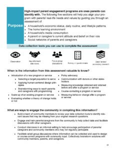 Practical tool on parent engagement for literacy practitioners