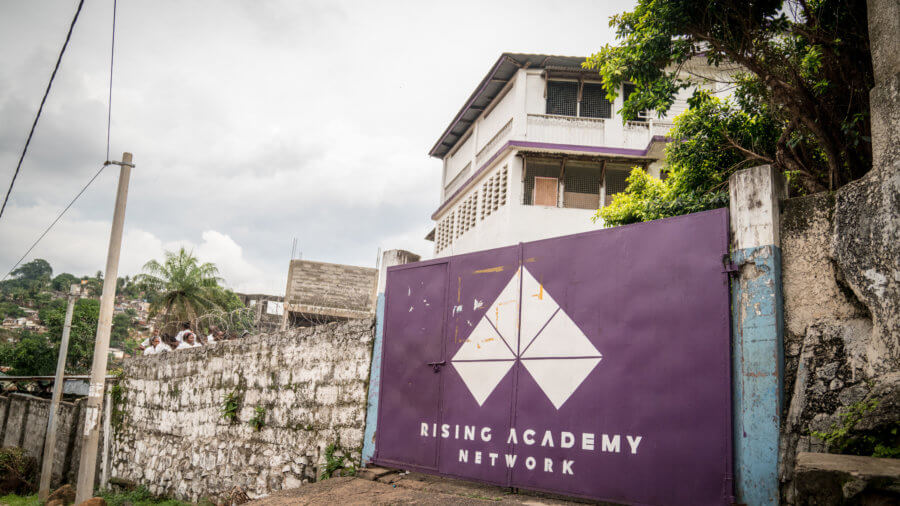 Rising Academy Network's Tengbeh Town school. ©Results for Development