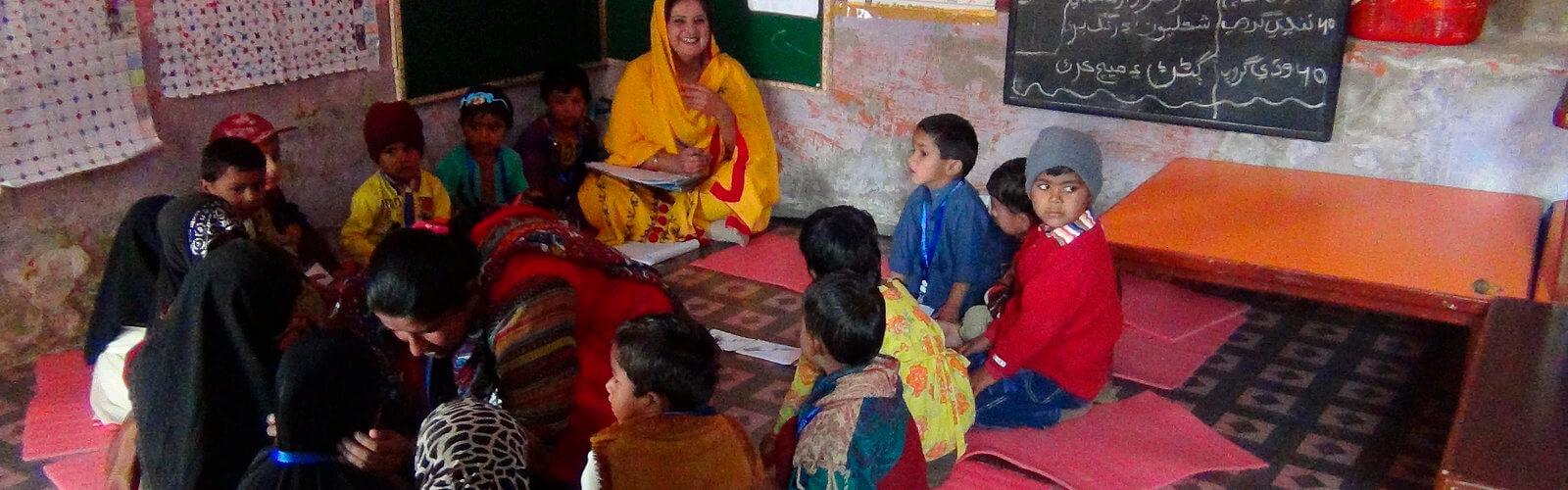 School classroom in Pakistan