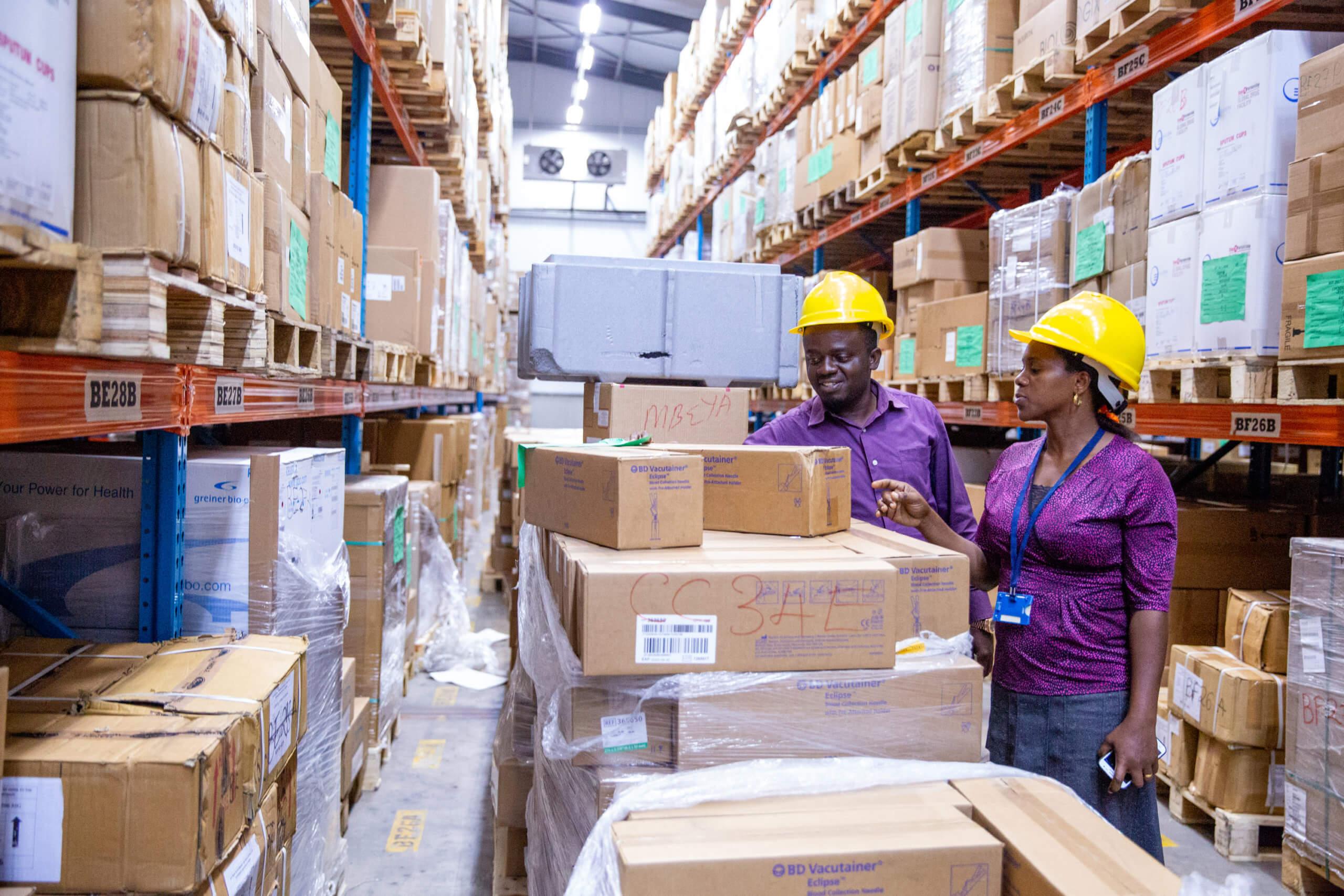 Medical Stores Department warehouse in Dar es Salaam, Tanzania